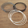 Black, Silver and White Hula Hoops 75cm 12pk  small