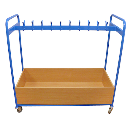 Double Sided Blue Cloakroom Trolley  large