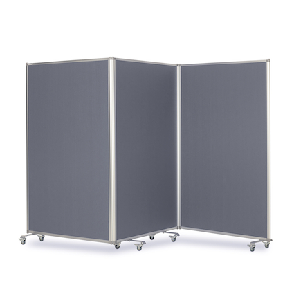 Triple Screen Mobile Partitions W360 x H180cm  large
