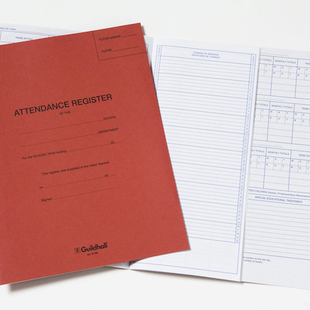Guildhall School Attendance Register  large