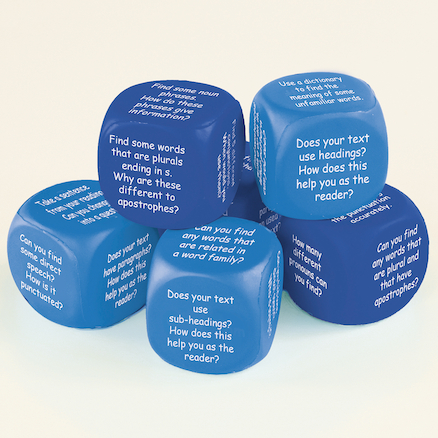 Grammar Through Reading Dice Year 3\-4 6pk  large