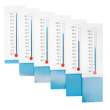 Sliding Scale Thermometer 6pk  large