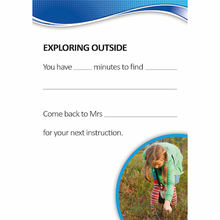 Autism Outdoor Activity Cards A5 50pk  large