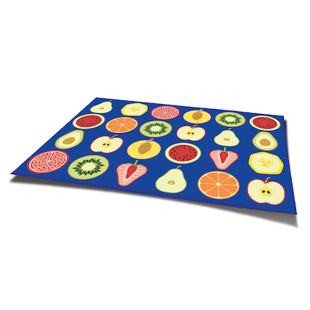 Fruit Rectangular Placement Carpet 3 x 2m  large
