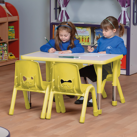 Valencia Classroom Furniture Set Yellow SH350mm  large