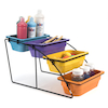 Colourful Plastic Tray Collection with Stand \-  small