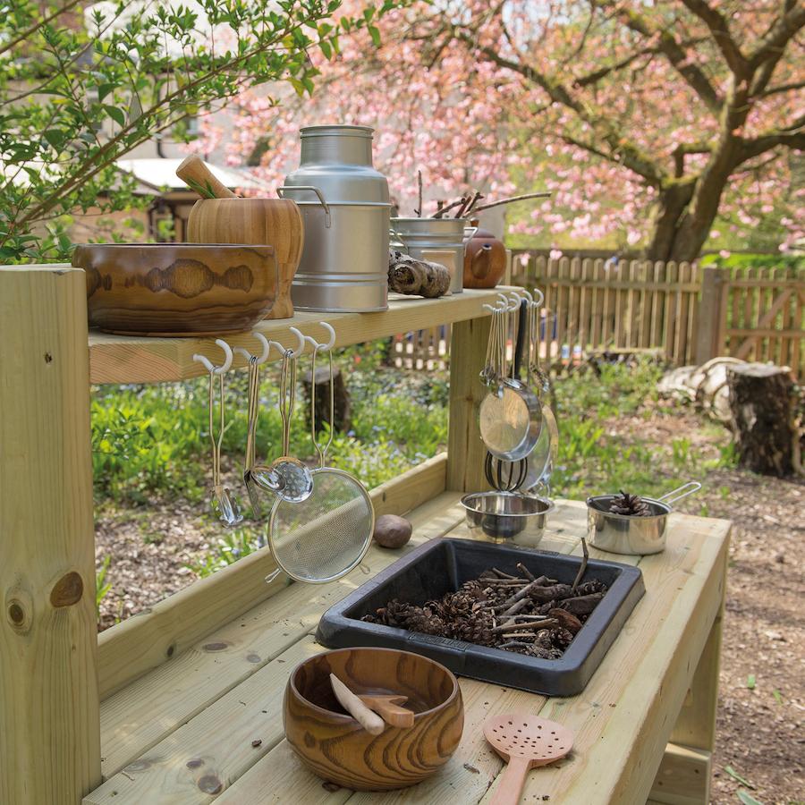 Messy Kitchen Floor: Buy Outdoor Messy Play Wooden Mud Kitchen