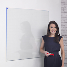 Coloured Edge Wall Mounted Whiteboard  medium