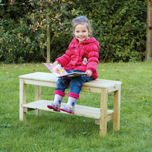 Small Outdoor Wooden Bench  medium