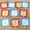 Metallic Fabric Number and Counting Bags 1\-10  small