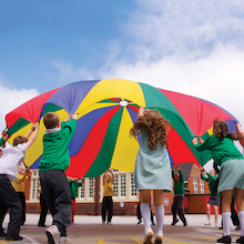 Multicoloured Playground Parachute  medium
