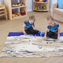 Small World Space Lunar Themed Play Mat  medium