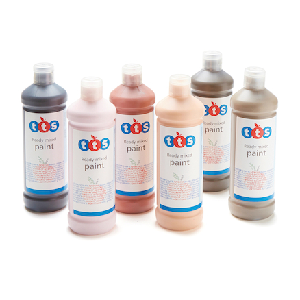 TTS Ready Mixed People Colours Paint 6 x 600ml  large