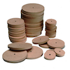 Wooden Wheels 54mm Diameter 4mm Hole  small