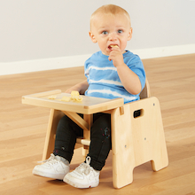 Infant Wooden Feeding Chair with Tray  medium