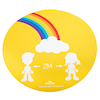 Social Distancing Floor Stickers  small