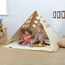 Lovely Learning Location Wooden Pyramid Den  medium
