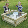 Outdoor Wooden Table with Acrylic Marking Surface  small