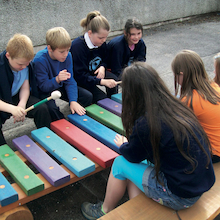 Coloured Giant Outdoor Xylophone  medium