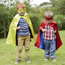 Dress up Superhero Reversible Capes and Masks 4pk  medium