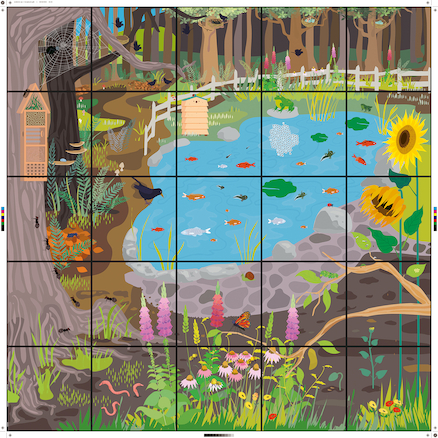 Bee\-Bot® Wildlife Garden Mat  large
