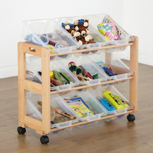 Tilted Tray Mobile Tidy With 9 Trays  medium