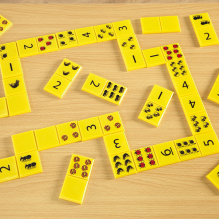 Giant Dominoes Numbers and Bugs Set 28pcs  large