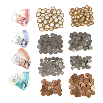 Bulk Value Money (400) Coins \x26 (80) Notes Pack  large