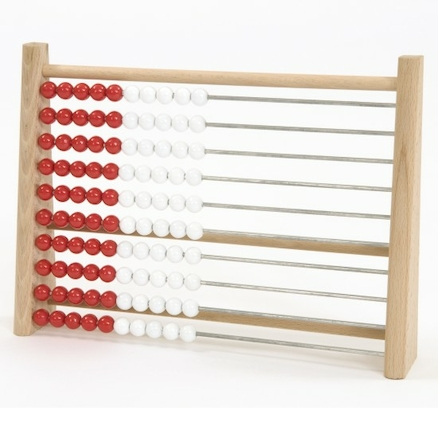 Wooden Two Colour Abacus  large