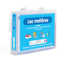 French Vocabulary Builders - School Subjects  medium