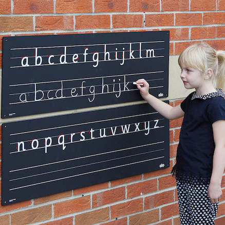 Outdoor Chalkboard Alphabet Line  large