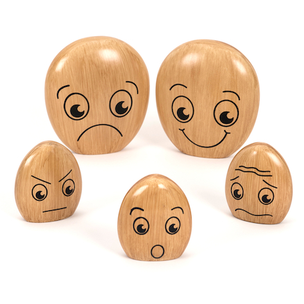 Wooden Emotions Pebble Family  large