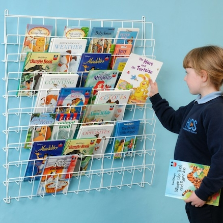 Square Wall Hung Book Rack L86 x H86cm  large