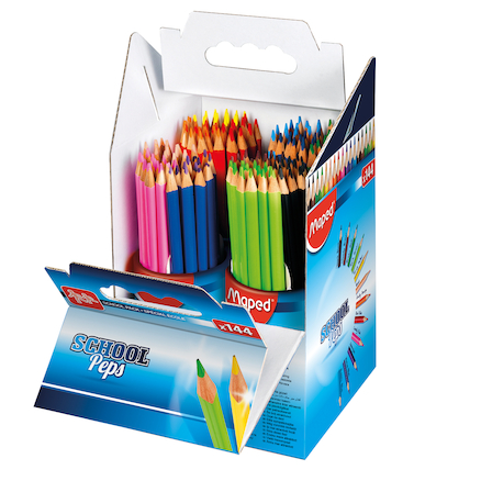 School Peps Assorted Colouring Pencils 144pk  large