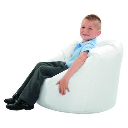 Sensory room white bean bag  large
