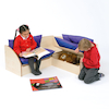 Infant Reading Corner Seating in Maple  small