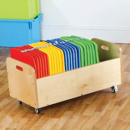 Multicoloured Square Cushions and Trolley  large