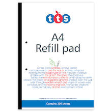 TTS A4 Refill Pad 5pk  medium