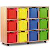Mobile Tray Storage Unit With 12 Jumbo Trays  small