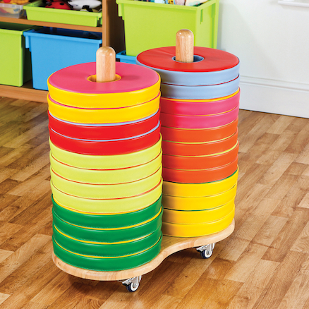 Donut Floor Cushions and Trolley 24pk  large
