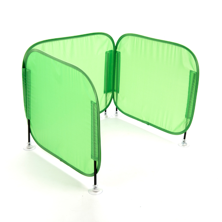 Pop\-Up Concentration Desk Barrier Green  large
