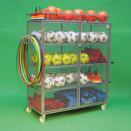 Lockable Ball Storage Trolley H1.76 x W1.4m  large