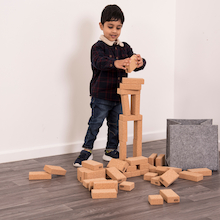 Cork Cuboid Building Blocks 50pk  medium