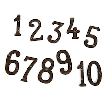 Traditional Brass Numbers 1-10  medium
