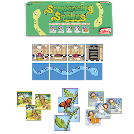 Sequencing Snakes Picture Activity Cards 24pk  large