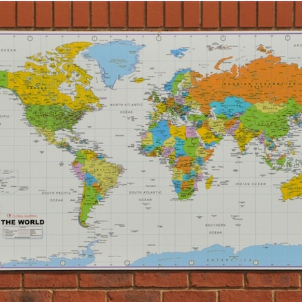 Outdoor World Map Playground Signs  large