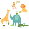 Safari Animals Wall Sticker Decoration  small