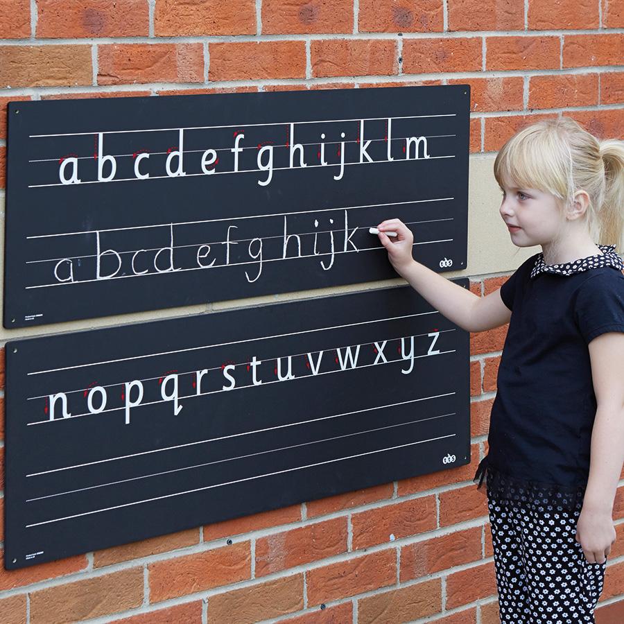 Outdoor Chalkboard Alphabet Line