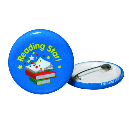 Reading Star Button Badges 40pk  large