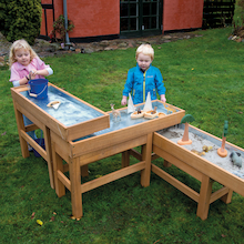 Outdoor Wooden Water and Sand Table with Pump  medium